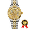 BRIGADA швейцарские часы бренда Роскошные золотые автоматические часы для мужчин, красивые механические мужские часы, отличный подарок для семей