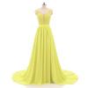 Пляжные Свадебные платья 2018 трапециевидной формы с боковыми элегантный Кружево Аппликации шифон Свадебные платья платье платья с принтами