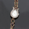 Vintage Classic Elegant Pure Turkish Flower Women Bracelet Watches Antique Process Rhinestone Bangle Регулируемая смола Dresswatch
