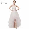 Babyonlineress Простые летние платья с высоким низким тюлем Свадебные платья 2018 Свадебные платья из спагетти 2 цвета Свадебное платье платья с принтами