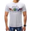 Мужчины 2018 Марка с коротким рукавом печати PatternT рубашки O-образным вырезом Slim Мужская футболка Tops Мода мужская футболка Футболка