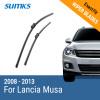SUMKS Wiper Blades for Lancia Musa 23&15 Fit Push Button Arms 2008 2009 2010 2011 2012 2013 wiper blades for lancia phedra 26