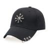 1 Бейсбольная кепка Мужская леди Регулируемая кепка Досуг Повседневная шляпа Хооп Подвеска Три кольца Кольцо Snapback Летняя осенняя шляпа
