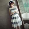 Lovaru ™Хан издание летнее платье новый раунд воротник платье без рукавов цвета вышивки воспитать нравственность