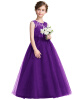 3-14Y Princess Champage Lace Flower Girl Dresses 2017 Girls Tutu Birthday Party Платья Рапунцель костюм