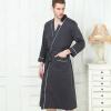 Бамбуковое волокно Халат Женщины Пятно Халат Халат Мужчины Пижамы Современный стиль Мягкая вышивка Этикетка Nightgown для женщин халат