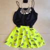 Lovaru ™2015 способа печати мини-платье черный вечернее платье без рукавов женское платье сладкий платье моды цена и фото
