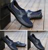 Мужская мода Повседневная обувь Плоское дно бизнес остроконечный воздухопроницаемый Кожаная обувь Мужская обувь