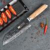Findking Новинка 2017 года Зебра деревянная ручка Дамаск нож 7 дюймов santoku нож шеф-повара 67 слоев дамасской стали кухонные нож китель шеф повара москва