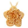 цена на цветок драгоценностей в 2015 году нового платинового / часов реального позолоченные модные украшения оптовые предприятия деликатной кулон ожерелье для женщин