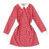 Lovaru ™Новая мода женские платья плед платья вскользь платье стиля с длинным рукавом лацкане мини платье проверил платья lovemily платье