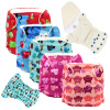 MABOJ 5pcs Новорожденные ткани Подгузники Детские подгузники Многоразовые младенца новорожденного новорожденного anerle детские подгузники