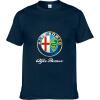 Alfa Romeo Футболки для мужчин Футболка Модные бренды Футболка Мужские повседневные Короткие рукава Футболка Punisher Футболка 100 аккумуляторная дрель шуруповерт bort bab 10 8nx2li fdk