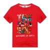 Новый летний Тис случайные Топы мальчик футболка многоцветный мультфильм характер печати Хлопок Tshirt удобно раздетые детская оде