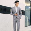 Мужские свадебные костюмы Bridegroom Prom костюмы Мужские куртки Blazers + Брюки Брюки костюмы