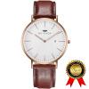 BRIGADA Швейцарский бренд Роуз Золотые часы для мужчин Женщины, минималистический бизнес Случайные водонепроницаемые часы для мужчин