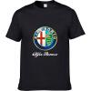 Alfa Romeo Футболки для мужчин Футболка Модные бренды Футболка Мужские повседневные Короткие рукава Футболка Punisher Футболка 100 бренды