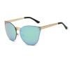 Женщины Мужчины Цветные отражающие очки Солнцезащитные очки Vintage Солнцезащитные очки Шармы Большие рамки Очки HD Солнцезащитные очки Gradient Lens солцезащитные очки
