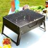Открытый барбекю, портативный нержавеющая сталь Уголь барбекю жаростойкий для наружного кемпинга Складной гриль для пикника