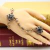 Новые турецкие наборы для ювелирных изделий для женщин Кольцо и браслет Античный золотой браслет из смолы с регулируемым размером