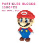 4200 Pcs Big Size Cute Super Mario Bros DIY Creative Bricks Toy Child Educational Wange Building Block Brick Juguetes free shipping super big size 12 super mario with star action figure display collection model toy