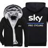 Мужские зимние осенние толстовки SKY PRO CYCLING узор Флисовые пальто Бейсбол Униформа Спортивная одежда Куртка шерсть куртки pepe jeans london куртка