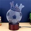 Футболка Crown Gift Promotion LED Touches Цветной смены 3D-лампы USB Creative Nightlight футболка lisa crown футболка