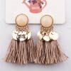 Серьги Tassel Dangle Bohemian Earrings для женщин Монета Boho Fringe Drop Серьги Камни Vintage Jewelry Brincos vintage tassel drop hoop earrings