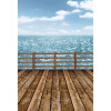 Blue Summer Beach Background 5 * 7FT Vinyl Fabric Cloth Цифровая печать Photo Studio Backdrop S-3041 weathered white painted wood backdrop vinyl photography portrait background peeling distressed wood planks floordrop d 7619