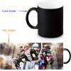 GINTAMA Morphing Mug Color Change Tea Cup  Magic Milk Coffee Mug xr2266 1 electric milk chocolate coffee mixer auto stirring cup mug orange 450ml 2 x aaa