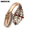 Dropshipping Модные браслеты Браслеты Любовь для женщин Индийские ювелирные изделия Античный бронзовый турецкий дизайн Snap Design