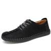 мягкой подошвой на шнуровке плоская Повседневная обувь для мужчины полусапоги на шнуровке женские