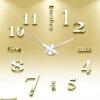 3D настенные часы безрамные Современные зеркальные металлы Большие настенные наклейки Часы настенные часы Room Home Decorations настенные часы xiao yu home