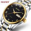 OLEVS Fashion Brand Ladies Auto Date Watches Коричневая кожа для женского розового золота Кварцевые часы Женские повседневные наручные часы датчик lifan auto lifan 2