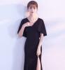 Платье женского достоинства элегантного банкетного черного вечернего платья V воротника тонкое платье для рыбьего хвоста df · rsдлинные праздничные вечерние платья в китайском стиле тонкое платье для похудения cheongsam