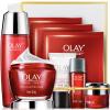 Olay Olay Fresh Essence Firming Gift Set 6шт (красная бутылочная крем 50 г + жидкая вода 150 мл + очищающее средство 120 г + крем для глаз 15 мл + маска 2шт) algotherm морской крем для глаз вв 15 мл морской крем для глаз вв 15 мл 15 мл