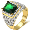 Fashion Popular Men's 18K White Gold Plated Engagement shinng Ring Size 8-15