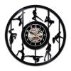 Pole Dancer Креативный дизайн Виниловые записи настенные часы Wall Art Party Decoration любовные кошки 3d виниловые настенные часы black record home bedroom wall art decoration