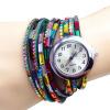 YAZILIND Горячие Женщины Красочные Кристалл Rhinestone Многослойные аналоговые наручные часы Женщины Женщины Подарочные повседневнаяженскиекостюмы женщины