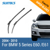 SUMKS Wiper Blades for BMW 5 Series E39 /5 Series E60 / E61 24& 23 / 26& 22 Fit pinch tab Arms / Side Latch Arm 1995 to 2010 wiper blades for mazda 5 mpv 26