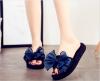 Akane 2018 осенние плоские ботинки хрустальные туфли нескользящие повседневная одежда толстый нижний сладкий лук открытый носок пл силденафил сз таб п пл об 100мг 10