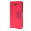 MOONCASE чехол для iPhone 5G / 5S PU Leather Flip Wallet Card Slot Stand Back Cover Hot pink mooncase чехол для iphone 6 plus 5 5 pu leather flip wallet card slot stand back cover coffee