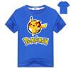 Летние дети дети Шорты футболки хлопчатобумажные Pokemon Go мальчики девушки tops тройники пикачу t рубашки для одежды для девочек