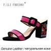 Компания F. lli.ФАБИАНО сандалии женские сандалии Itaria Стиль высокие каблуки с китайского уникальные вышивки сандалии X2127--01L мягкие сорта Дженуин сандалии высокие женские