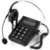 中诺(CHINO-E)C282 通话存储电脑录音话务耳机电话机(适用于话务员/客服/呼叫中心等) 黑色 步步高(bbk)hcd172 有绳电话机 免电池座机 时尚透明玻璃造型 蓝色夜光 家用办公 来电显示