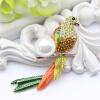 Смазливая красная птица Брошь Pin Perfect Эмаль Броши Женщины День рождения Подарки Броши Золотые броши Пинки Броши Женские аксесс инталия броши