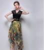 Lovaru ™Пляж нерегулярные шифон юбки станции Европа 2 015 лето новый стиль моды платье печати