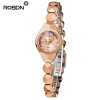 ROSDN TOP Brand Luxury Women Bracelet Watches Gift Set Fashion Women Dress wrist watch Ladies Quartz Rose Gold Watch Waterproof luxury melissa lady women s watch elegant full rhinestone cz fashion hours bracelet crystal clock girl birthday gift box