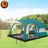 Ship Form RU 6 8 10 12 people double layer outdoor 2living rooms and 1hall family camping tent in top quality large space tent large outdoor 4 8 person double layer waterproof windproof camping tents one room and one living room party tent