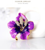 Мода женщин мака цветок брошь Pin эмаль краска корсаж ювелирные изделия красочные лак броши ювелирные изделия леди шарф штыри Bijo